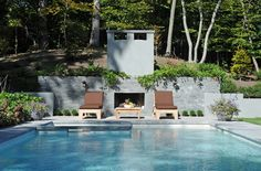 Amagansett House by Kevin O'Sullivan + Associates Garden Beds, Swimming Pools, Patio, Architecture, Outdoor Decor, House, Lawns, Communication, Gardens