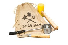 Coco Jack pack. Coconut opener, mallet and scoop.