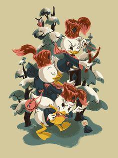 Ducktales Poster by Anne Benjamin