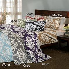 Havana Floral Reversible 3-piece Duvet Cover Set | Overstock.com Shopping - The Best Deals on Duvet Covers