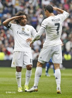 Marcelo & Cristiano Ronaldo captain & commander Real Madrid