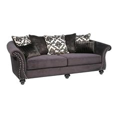 Athena Loveseat in Bella Black | Nebraska Furniture Mart