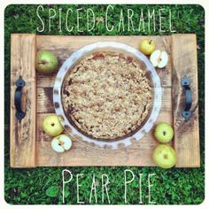 Spiced Caramel Pear Pie from Baked in Nova Scotia Caramel Pears, Pear Pie, Nova Scotia, Bird Feeders, Spices, Baking, Outdoor Decor, Recipes, Spice