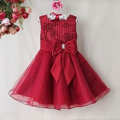 Baby Girls Cloth & Stylish Girls Frocks 2017 More: Baby Dress Latest Baby Girls Frock By Next 2017 Collection Baby Girl Frocks, Frocks For Girls, Little Girl Dresses, Frock Patterns, Baby Dress Patterns, Girls Christmas Dresses, Holiday Dresses, Christmas Girls, Dress With Bow