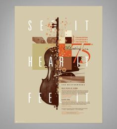 Promotional design for the Charleston Symphony Orchestra by J Fletcher Design
