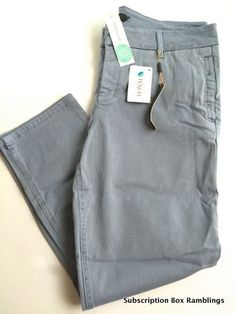 Need a pair of gray chinos, not jeans, that zip and button, no elastic waist.