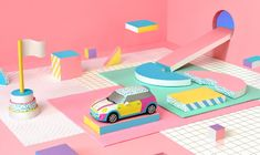 Paper Art by Noelia Lozano › Inspiration Now Design Set, Design Ideas, Branding, Mein Portfolio, Illustration Arte, 3d Illustrations, Paper Art, Paper Crafts, Memphis Design