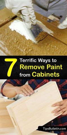 Remove old paint from cabinet doors with these DIY strategies that help you save money instead of hiring professionals. Low grit sandpaper, Citistrip paint stripper, mineral spirits, and a few… More House Cleaning Tips, Cleaning Hacks, Chalk Paint Tutorial, Stripping Paint, Paint Stripper, Diy Furniture Hacks, Mildew Remover, Crackle Painting, Sandpaper