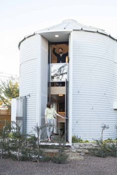 A tiny house created from a 1950's grain silo. See more at: http://humble-homes.com/1950s-silo-converted-tiny-house-christoph-kaiser/