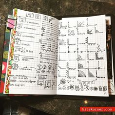 "I like the four ""Oct 18"" header things on the top of the left page - cute! - - - Bullet journal inspiration.."