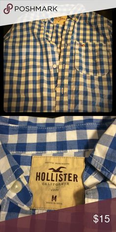 Men's button down shirt I've worn this often just for a casual day in good condition and always kept clean and soft. Hollister Shirts Casual Button Down Shirts