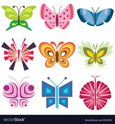 Buy Colorful Butterflies Icons Set by on GraphicRiver. colorful butterflies stylish icons set in vector Zip file includes: - editable vector, RGB - jpg, px. Butterfly Logo, Butterfly Images, Free Vector Images, Vector Free, Tiny Heart Tattoos, Butterfly Illustration, Plant Vector, Insect Art, Pictogram