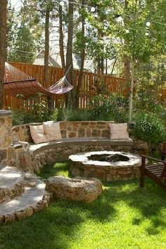 Easy diy outdoor fire pit and cozy seating area 00035 Backyard Seating, Small Backyard Landscaping, Fire Pit Backyard, Garden Seating, Backyard Ideas, Landscaping Ideas, Patio Ideas, Backyard Patio, Firepit Ideas
