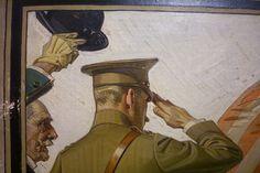J.C. Leyendecker, original oil painting, illustration art for Kuppenheimer Style Booklet (detail).
