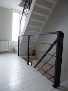 """Blog de La Maison de l'Imaginarium - L'ambiance """"factory"""" 100% sur mesure !: Garde-corps tout en métal pour escaliers et paliers"""