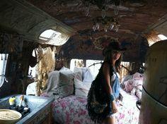 magnolia pearl trailer   Minnie inside the Magnolia Pearl Airstream Trailer
