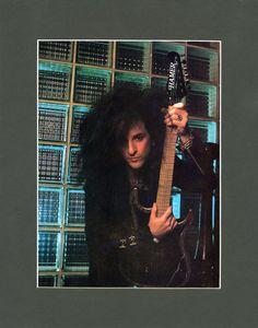 Steve Stevens & Hamer Guitar MATTED Promo Ad - Prints - Wall Art - Music - Paper Ephemera - Music Art - Pin Up - Matted Print - 80s Music by MusicSellerz on Etsy