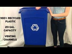 The Rubbermaid Slim Jim #Recycling bin is JUST what you need to keep your business or home #clean and #green! Brought to you by Shoplet - everything for your business #ecofriendly