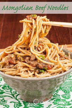 Mongolian Beef Noodles - My favorite kind of comfort food.