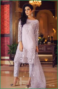 Maria B Eid collection 2016 facebook | maya ali | lilac shirt with trouser | great dress for eid