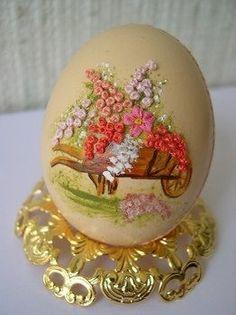 Gallery.ru / Фото #9 - Вышивка на яйце. - Markara