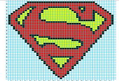Superman Photo: This Photo was uploaded by Lystessa. Find other Superman pictures and photos or upload your own with Photobucket free image and video ho. Logo Superman, Superman Symbol, Knitting Charts, Knitting Stitches, Knitting Patterns, Free Knitting, Crochet Chart, Knit Crochet, Free Crochet