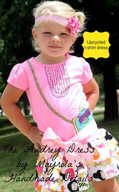 The Audrey dress upcycled tshirt dress by paola00mx on Etsy, $30.00