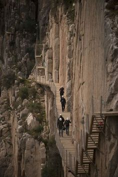 Caminito del Rey: Would you walk along this narrow footpath high above a gorge near Malaga? Places To Travel, Places To See, Dangerous Roads, Scary Places, Spain And Portugal, Spain Travel, Paths, Travel Inspiration, Travel Photography