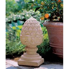 Campania International Pineapple Finial Small Cast Stone Garden Statue - About Campania International Established in 1984, Campania International's reputation has been built on quality original products and service....