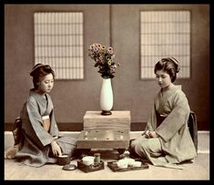 These vintage photographs of geisha (most of them postcards) are from Okinawa Sobas photostream.