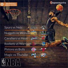 A NBA agita a noite de Sexta-Feira... Saindo ou não aproveitem os prognósticos dos nossos tipsters... Para entrar no fim de semana com o pé direito...  http://www.apostaganha.com/2015/10/30/prognostico-apostas-spurs-vs-nets-nba/  http://www.apostaganha.com/2015/10/30/prognostico-apostas-nuggets-vs-timberwolves-nba/  http://www.apostaganha.com/2015/10/30/prognostico-apostas-cavaliers-vs-heat-nba/  http://www.apostaganha.com/2015/10/30/prognostico-apostas-rockets-vs-warriors-nba…