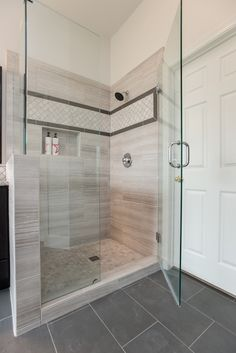 Wood-Look Tile in the Walk-in Shower