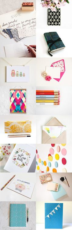Many things to write and celebrate by Palomilla on @etsy with @luckyinkdesign #Etsy #Treasury