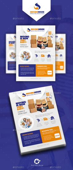 Moving House Flyer Template PSD, InDesign INDD