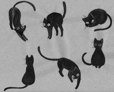 Black cat tattoo ideas