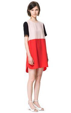 COMBINATION DRESS - Dresses - Woman   ZARA United States