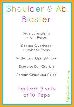 Shoulder & Ab Blaster Workout - Perform 3 Sets of 10 Reps