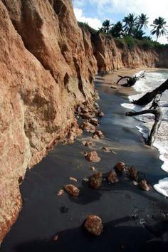 Playa Negrita (Black Sand Beach) @ Vieques Island, Puerto Rico. Photo: Joe Umpierre