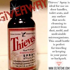 Therapeutic Thursday! FREE THIEVES SPRAY- only today, April 10th! *Must Visit www.facebook.com/oilthetime to find out how to win