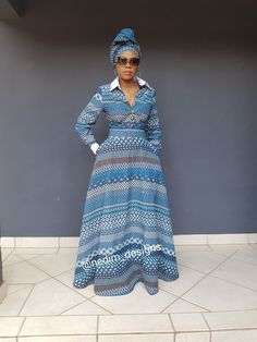 Tips on african fashion outfits 110 African Maxi Dresses, Shweshwe Dresses, African Attire, African Wear, African Fashion Designers, African Print Fashion, Africa Fashion, African Print Dress Designs, African Traditional Dresses