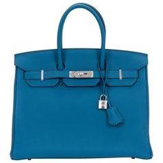 c4e514c0685 New in Box Hermes Birkin 35 Cobalt Palladium Bag Hermes Birkin, Hermes  Bags, Leather