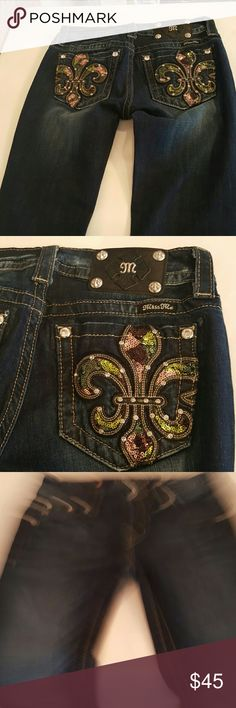 NWOT MISS ME JEANS Never worn mardi gras miss me jeans Miss Me Jeans Boot Cut