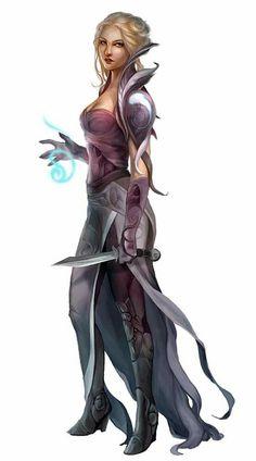 Female Cleric of Pharasma - Pathfinder PFRPG DND D&D d20 fantasy