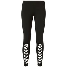 Cushnie et Ochs Women's Cutout Leggings ($198) ❤ liked on Polyvore featuring pants, leggings, black, cutout pants, cut-out pants, elastic waistband pants, stretch waist pants and nylon pants