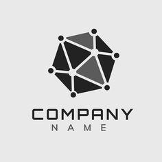 Simple molecule editable slogan psd logo design | premium image by rawpixel.com / Kappy Kappy Vector Logo Design, 3d Logo, White Brand, Creative Home, Company Names, Business Logo, Brand Identity, Slogan, Brand Names