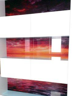 Grafické sklo obklad steny