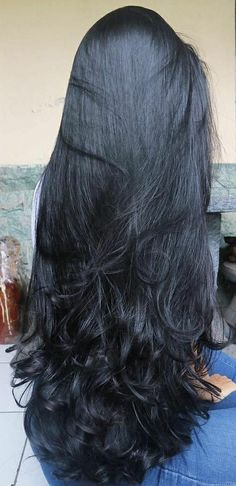 New hair black long ideas 44 ideas Long Black Hair, Long Layered Hair, Very Long Hair, Long Hair Cuts, Dark Hair, Hairstyles Haircuts, Straight Hairstyles, Cool Hairstyles, Silky Hair