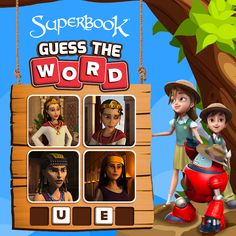 CBN's Superbook Kids website is a safe place for your kids to play free and fun online animated kids games, interactive learning games, Bible games, and learn more about the Bible, while growing in their faith! Interactive Learning, Learning Games, Michael Watches, Guess The Word, Bible Games, The Greatest Showman, Games For Kids, Spy, Beast
