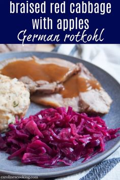 This braised red cabbage with apples (Rotkohl or Blaukraut) is a classic Germanic side that's a delicious mix of sweet-sour flavors with a mildly aromatic spice. Easy to make and comfortingly tasty. Rice Side Dishes, Healthy Side Dishes, Side Dishes Easy, Best Vegetable Recipes, Homemade Vegetable Soups, Winter Recipes, Spring Recipes, Amazing Recipes, Delicious Recipes