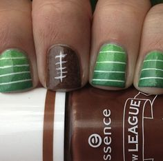 football nails. I heart this more than is probably normal. :)